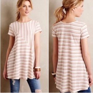 Anthropologie Puella Striped Swing Top